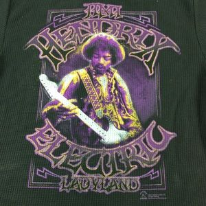 Zion Rootswear Jimi Hendrix graphic thermal shirt